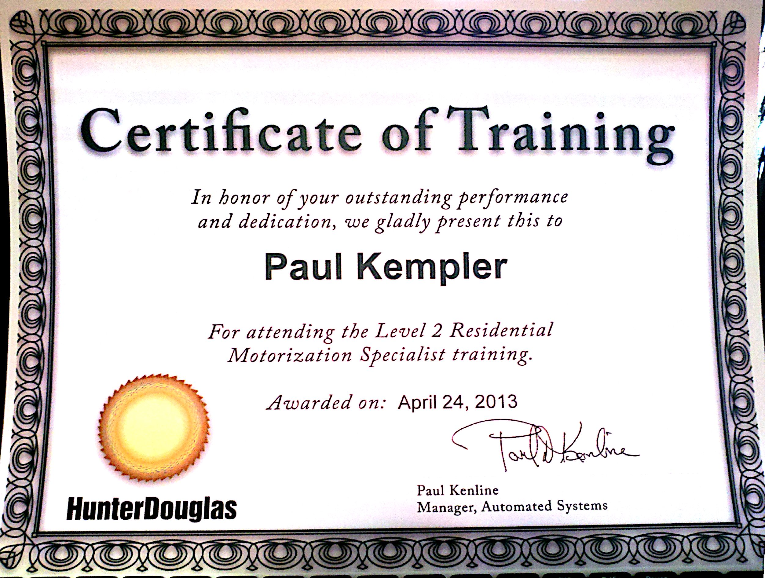 Word 2013 Certificate of Completion